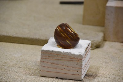 Image of the paper weight near the end of the process