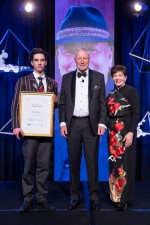 an image of Dame Patsy with Chris Baxter and inductee, Alan Gibbs