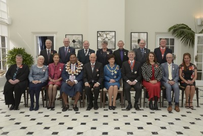 Image of Dame Patsy and Sir David with the recipients