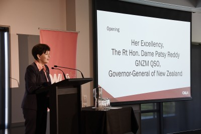 Image of Dame Patsy speaking at the at the Canterbury Women's Legal Association's Professional Women's Conference