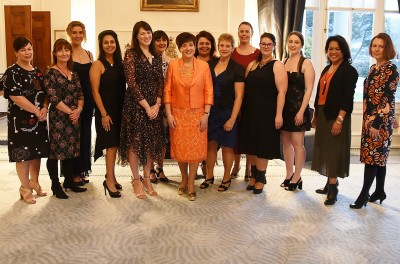 Image of Dame Patsy with Dress for Success board members and staff