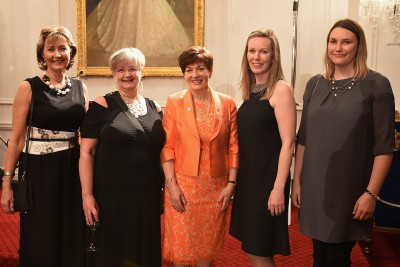 Image of Dame Patsy and the raffle winners