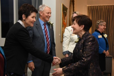 an image of Dame Patsy with Dr Jackie Blue and Mayor Phil Goff