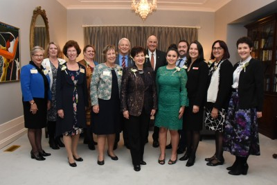 an image of Dame Patsy with the official party