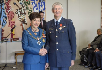 Image of Squadron Leader Peter Cochran, of Feilding, MNZM, for services to the New Zealand Defence Force
