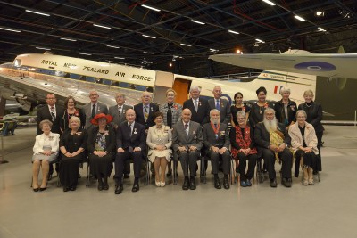 Image of recipients and guests with Dame Patsy and Sir David