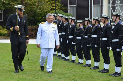 Image of The  Ambassador of Thailand HE Mr Danai Menabodhin inspecting the Guard of Honour