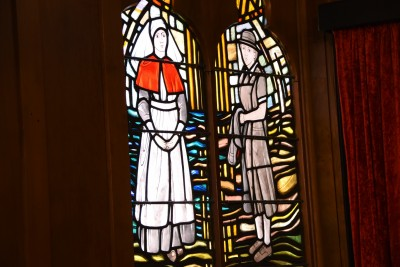 an image of Stained glass window in the Nurses Memorial Chapel