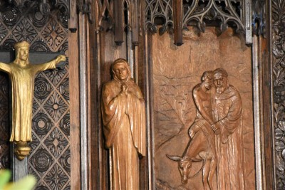 an image of chapel carving
