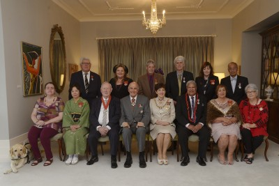 an image of Dame Patsy and Sir David with the honour recipients