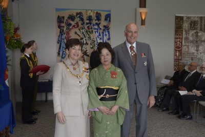 an image of Mrs Kumiko Duxfield, of Auckland, Honorary MNZM for services to the Japanese community