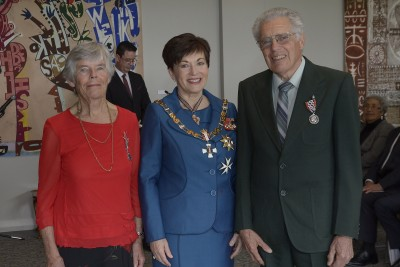 an image of Margaret Slade and Stuart Slade, of Opotiki, QSM for services to conservation