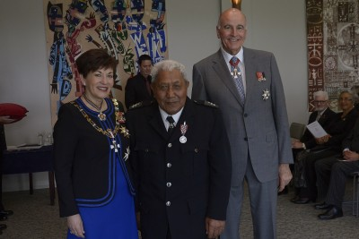 an image of Raymond Coffin, of Te Kuiti, QSM for services to the Maori Wardens Association