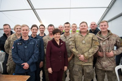 an image of Dame Patsy and NZDF personnel attending Le Quesnoy commemorations