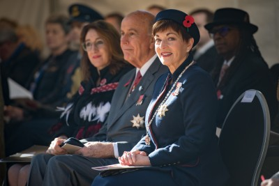 an image of Dame Patsy and Sir David at the National Commemorative Service