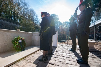 an image of Wreath-laying at Le Quesnoy