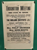 an image of Poster for a suffragette meeting at the Bodleian Library