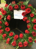 an image of The wreath for the New Zealand Memorial in Hyde Park