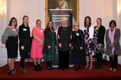 an image of Dame Silvia Cartwright and WIN branch chairs