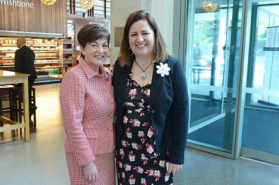 Image of Dame Patsy with Amber Walters, NZWiL alumna and Leadership Conversation facilitator