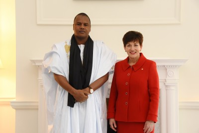 Image of Ambassador of the Islamic Republic of Mauritania, HE Mr El Hacen Eleyett and Dame Patsy Reddy
