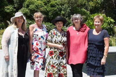 Image of Dame Patsy with Angela Haddon of Heart Kids Wellington; Annie Cunningham, Heart Kids Wellington Family Support Worker and Linda Davies and Michelle Mann, the founders of Heart Kids