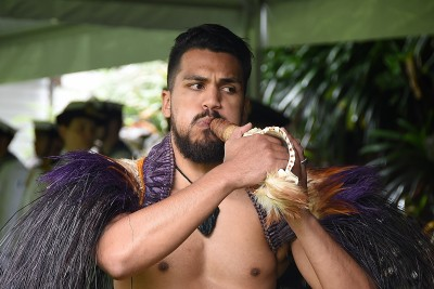 Image of a warrior from the NZDF cultural party