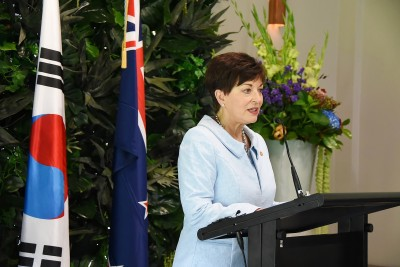 Image of Dame Patsy speaking at the State Luncheon