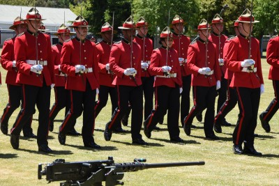 an image of Officer cadets on parade