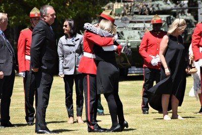 an image of Proud whanau congratulating cadets