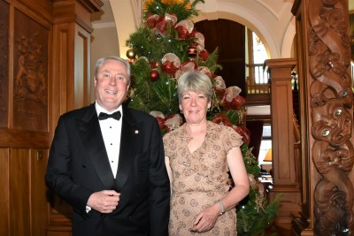 an image of Mr Peter Biggs, trustee of the Arts Foundation and Mrs Mary Biggs