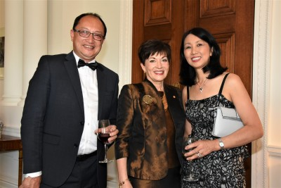 an image of Mr Meng Foon, Trustee of the Arts Foundation, Dame Patsy and Mrs Ying Foon