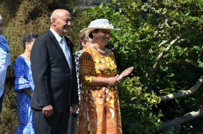 an image of HE Mrs Elizabeth Foster Wright-Koteka, High Commissioner of the Cook Islands and Professor Piri Sciascia