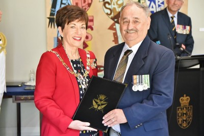 Image of William Teller with Dame Patsy