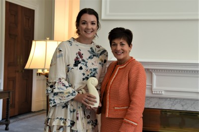 Dame Patsy with Brittany Vining, recipient of the Future Champion Award