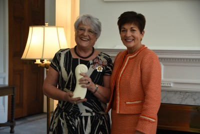 an image of Dame Patsy with Dr Dianne Webster, Health Professional Award recipient
