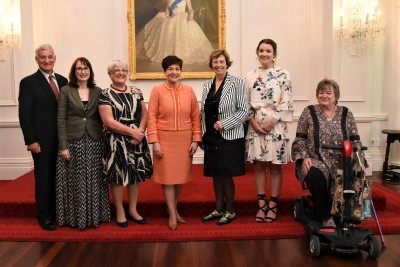 Dame Patsy with Rare Disease Day Award winners