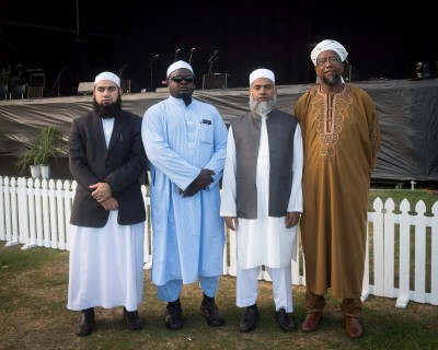 Representatives of the Muslim community who spoke at the service