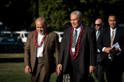 HE Leasi Papali'i Tommy Scanlon, Samoan High Commissioner and His Highness Afioga Tuimaleali'ifano Va'aletoa Sualauvi ll