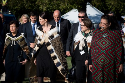 Dame Patsy and the Prime Minister, the Rt Hon Jacinda Ardern arriving
