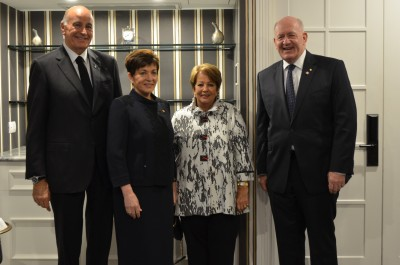 Dame Patsy and Sir David with the Australian Governor-General, Sir Peter Cosgrove and Lady Cosgrove