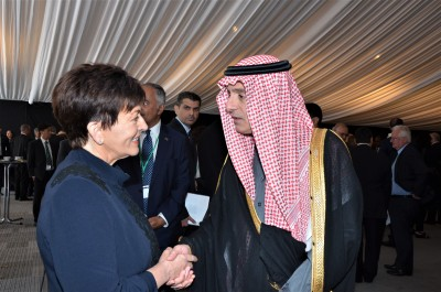 Dame Patsy with Saudi Minister of State for Foreign Affairs Adel al-Jubeir