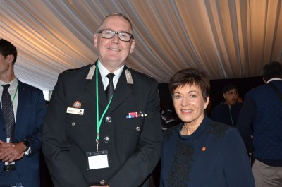 Dame Patsy with Peter Bradley of St John's