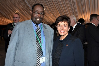 Dame Patsy with Ahmed Tani, from the Canterbury Refugee Council