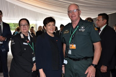 Dame Patsy with St John personnel