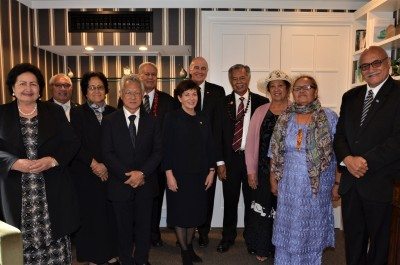 Dame Patsy with the Pacifika delegation