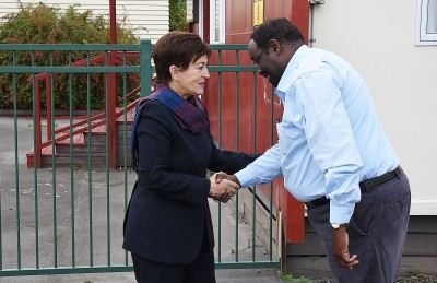 Image of Dame Patsy with Dame Patsy with Ahmed Tani, founder of the Canterbury Refugee Resettlement and Resource Centre