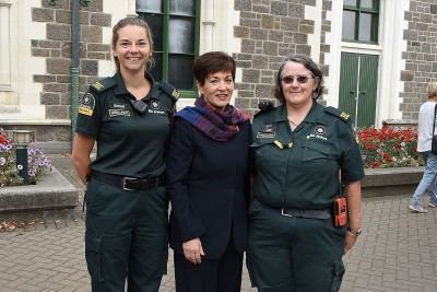 Image of Dame Patsy with St John New Zealand staff