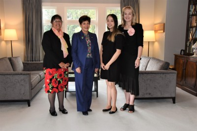 Dame Patsy with Dr Hiria Hape, Vanessa Stoddart and Michelle Huang
