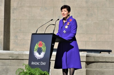 Dame Patsy delivering her Anzac Address